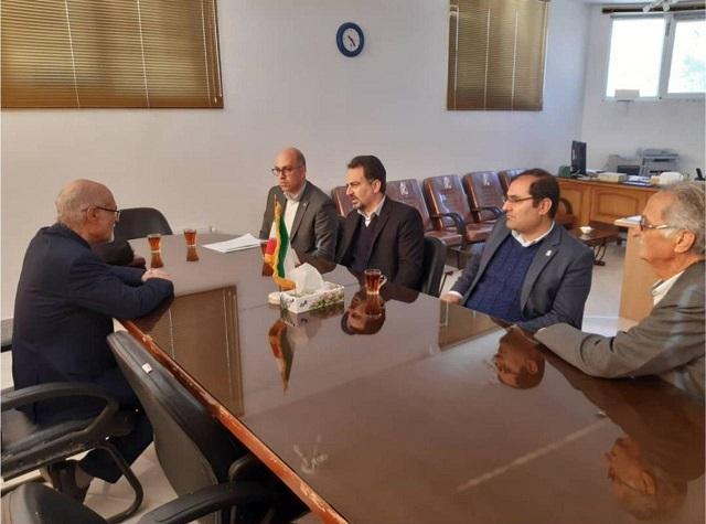 بازدید معاون منطقه ای بانک ایران زمین از شرکت نساجی فردوس به منظور حمایت از تولید و اشتغال